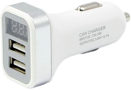 Автомобильное зарядное устройство Wiiix UCC-2-26-VM-W 2.4А белый автомобильное зарядное устройство wiiix с двумя usb портами цвет черный ucc 2 19 wiiix qc3