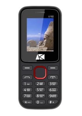 Мобильный телефон ARK U182 Benefit 32Mb красный моноблок 2Sim 1.8 128x160 BT GSM900/1800 TouchSc FM microSD max8Gb мобильный телефон ark power f1 красный
