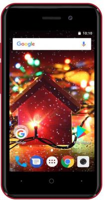 Смартфон Digma HIT Q401 3G 8 Гб красный (HT4039PG)