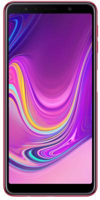Смартфон Samsung Galaxy A7 2018 64 Гб розовый (SM-A750FZIUSER) 12storeez брюки с защипами в клетку серо голубой