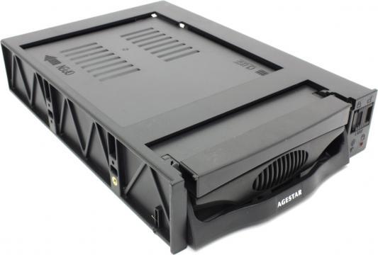 купить Сменный бокс для HDD AgeStar SR3P-SW-2F SATA пластик черный 3.5 онлайн