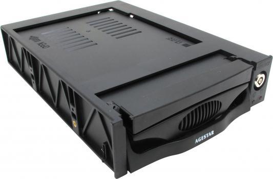 купить Сменный бокс для HDD AgeStar SR3P-K-2F SATA пластик черный 3.5 онлайн