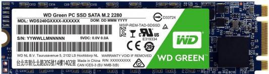 Накопитель SSD WD Original SATA III 480Gb WDS480G2G0B Green M.2 2280 ssd накопитель transcend ts120gmts820s 120гб m 2 2280 sata iii