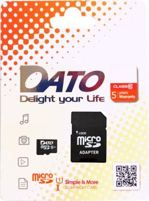 Флеш карта microSDHC 16Gb Class10 Dato DTTF016GUIC10 флеш карта pretec