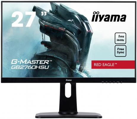 Монитор Iiyama 27 G-Master GB2760HSU-B1 черный TN+film LED 1ms 16:9 HDMI M/M матовая HAS Pivot 1000:1 400cd 170гр/160гр 1920x1080 DisplayPort QHD USB 7.2кг монитор 27 iiyama g master gb2783qsu b1 tn led 2560x1440 1ms dvi hdmi displayport page 2