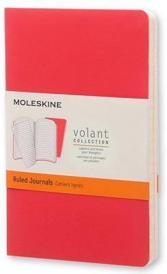 Блокнот Moleskine VOLANT QP711F14F2 Pocket 90x140мм 80стр. линейка мягкая обложка бордовый/красный (2шт) еженедельник moleskine classic wkly pocket 90x140мм 144стр красный