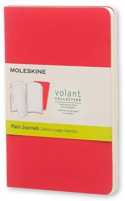 Блокнот Moleskine VOLANT QP713F14F2 Pocket 90x140мм 80стр. нелинованный мягкая обложка бордовый/красный (2шт) еженедельник moleskine classic wkly pocket 90x140мм 144стр красный