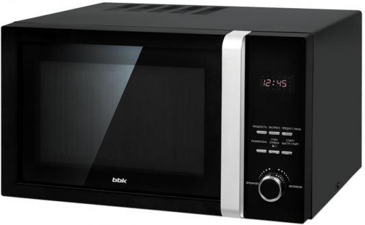 Микроволновая Печь BBK 23MWS-828T/B 23л. 800Вт черный микроволновая печь bbk 23mws 927m w 900 вт белый