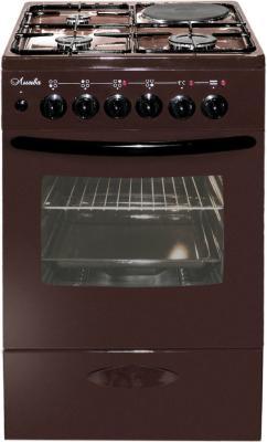 Плита Комбинированная Лысьва ЭГ 1/3г14 М2С-2у коричневый (стеклянная крышка) плита комбинированная лысьва эг 404 м2с 2у стеклянная крышка коричневый