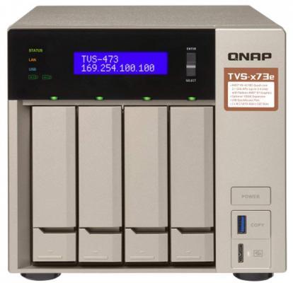 цена на Сетевое хранилище NAS Qnap Original TVS-473E-8G 4-bay