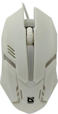Мышь проводная Defender Сyber MB-560L белый USB