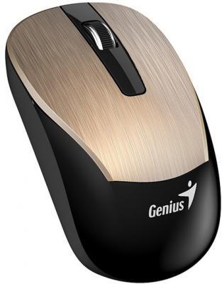 Мышь беспроводная Genius ECO-8015 Gold золотистый USB + радиоканал