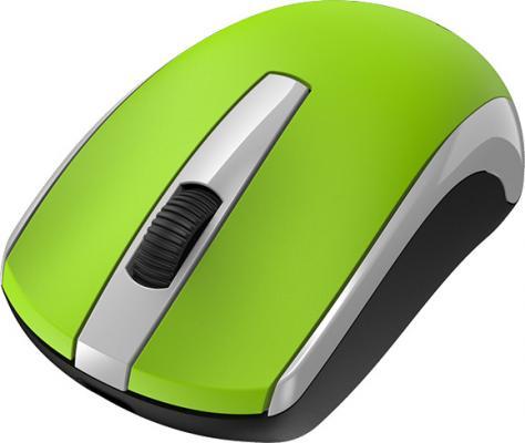 Мышь беспроводная Genius ECO-8100,  2.4 GHz, 800-1600 dpi, встроенный аккумулятор, Green