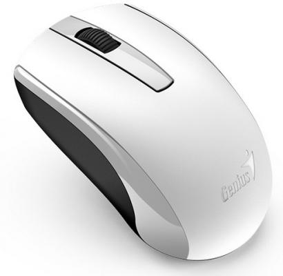 Мышь беспроводная Genius ECO-8100,  2.4 GHz, 800-1600 dpi, встроенный аккумулятор, White