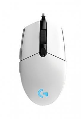 Проводная мышь Jet.A OM-U55 LED белая (800/1200/1600/2400dpi, 5 кнопок, LED-подсветка, USB)