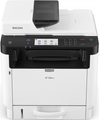 МФУ Ricoh SP 330SFN <картридж 1000стр.> (копир-принтер-сканер-факс, ADF, duplex, 32стр./мин., 1200x600dpi, Wi-Fi, LAN, NFC, A4) мфу ricoh sp 230sfnw копир принтер сканер факс adf 30стр мин 1200x600dpi lan wifi nfc a4