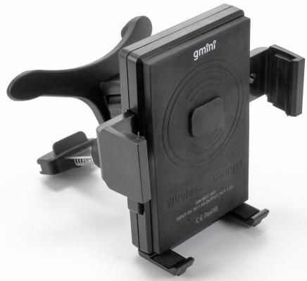 Беспроводное зарядное устройство Gmini GM-WCC-001 1.5А черный устройство зарядное автомобильное gmini gm mc 001 2usb