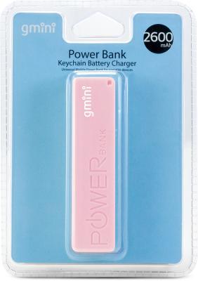 Фото - Внешний аккумулятор Gmini GM-PB026-P, 2600mAh, розовый аккумулятор