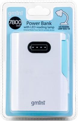 Внешний аккумулятор Gmini GM-PB07BL с лампой для чтения 7800mAh внешний аккумулятор gmini gm pb026 g 2600mah зелёный