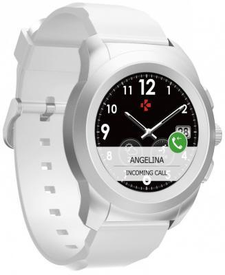 Гибридные смарт часы MyKronoz ZeTime Original Regular цвет матовое серебро/белый