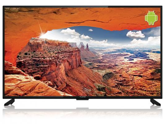 """Купить со скидкой Телевизор LED 55"""" Yuno ULX-55UTCS328 черный 3840x2160 Wi-Fi Smart TV RJ-45"""