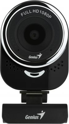 Веб-Камера Genius QCam 6000, black, Full-HD 1080p, universal clip, 360 degree swivel, USB, built-in microphone, rotation degree, tilt 90