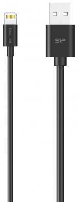 Кабель Lightning 1м Silicon Power SP1M0ASYLK10AL1K круглый черный