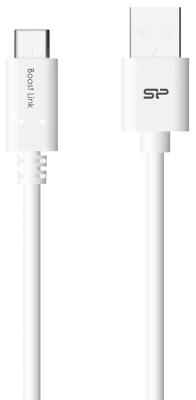 Фото - Кабель Type-C 1м Silicon Power SP1M0ASYLK10AC1W круглый белый кабель silicon power microusb usb для зарядки и синхронизации 1м нейлон pink