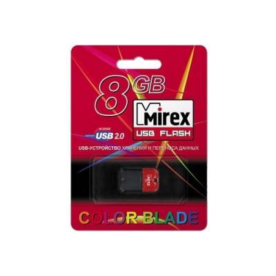 Фото - Флешка 8Gb Mirex 8GB, USB 2.0, Красный USB 2.0 красный черный 13600-FMUART08 флешка mirex chromatic usb 3 0 32gb 32 гб красный