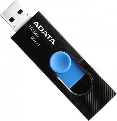 Флеш накопитель 64GB A-DATA UV320, USB 3.1, Черный/Голубой