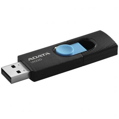 Фото - Флешка 64Gb A-Data AUV220-64G-RBKBL USB 2.0 черный голубой AUV220-64G-RBKBL кпб a 64