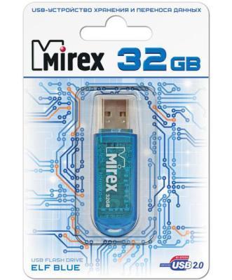 Флеш накопитель 32GB Mirex Elf, USB 2.0, Синий