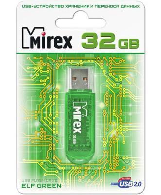 Флеш накопитель 32GB Mirex Elf, USB 2.0, Зеленый