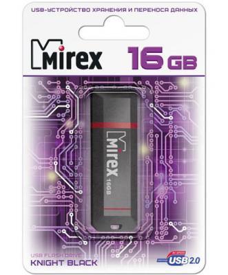 Флеш накопитель 16GB Mirex Knight, USB 2.0, Черный флеш накопитель 16gb mirex city usb 2 0 синий