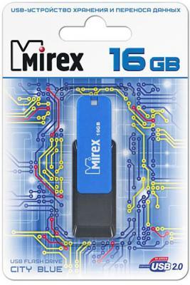 Фото - Флеш накопитель 16GB Mirex City, USB 2.0, Синий комбинезон city goddess city goddess ci009eweqjw7