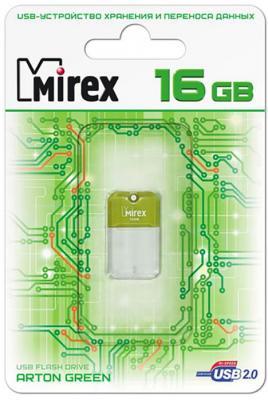 Флеш накопитель 16GB Mirex Arton, USB 2.0, Зеленый флеш накопитель 16gb mirex city usb 2 0 синий