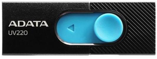 Флеш накопитель 16GB A-DATA UV220, USB 2.0, черный/голубой флеш накопитель 16gb a data ud230 usb 2 0 черный