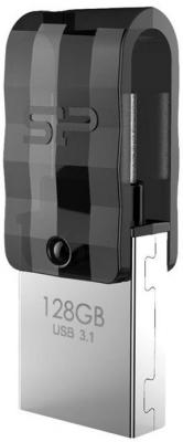 Фото - Флеш накопитель 128Gb Silicon Power Mobile C31, OTG, USB 3.1/Type-C, Черный 360 degree round finger ring mobile phone smartphone stand holder