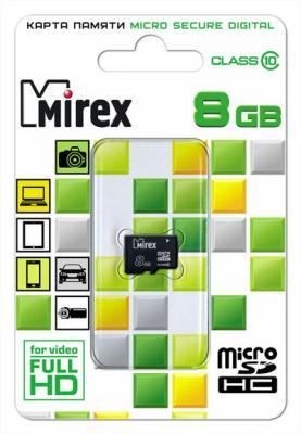 Фото - Флеш карта microSD 8GB Mirex microSDHC Class 10 флеш карта microsd 8gb mirex microsdhc class 4