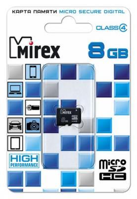 Фото - Флеш карта microSD 8GB Mirex microSDHC Class 4 флеш карта microsd 8gb mirex microsdhc class 4