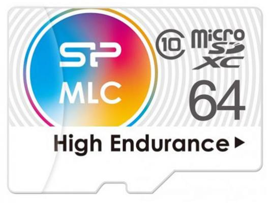 Флеш карта microSD 64GB Silicon Power High Endurance microSDXC Class 10 UHS-I U3 (SD адаптер), MLC 5pcs lot max98400b 98400b stereo high power class d amplifier differential input power limiting and excellent emi performance