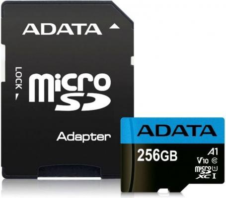 Фото - Флеш карта microSD 256GB A-DATA microSDHC Class 10 UHS-I A1 100/25 MB/s (SD адаптер) флеш карта microsd 512gb silicon power superior pro a1 microsdxc class 10 uhs i u3 colorful 100 80 mb s sd адаптер