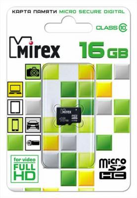 Фото - Флеш карта microSD 16GB Mirex microSDHC Class 10 флеш карта microsd 8gb mirex microsdhc class 4