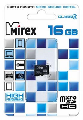 Фото - Флеш карта microSD 16GB Mirex microSDHC Class 4 флеш карта microsd 8gb mirex microsdhc class 4