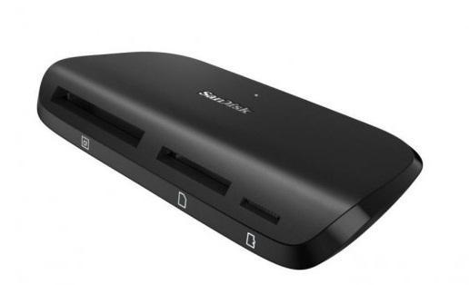 Устройство чтения/записи флеш карт SanDisk ImageMate Pro, SD/microSD/CompactFlash, USB 3.0, Черный