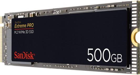 Твердотельный диск 500GB SanDisk Extreme PRO, M.2 2280, PCI-E 3x4 NVMe, [R/W - 3400/2500 MB/s] sandisk extreme portable ssd 500gb sdssde60 500g r25