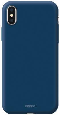 Чехол Deppa Air Case для iPhone X iPhone XS синий 83368 цена и фото
