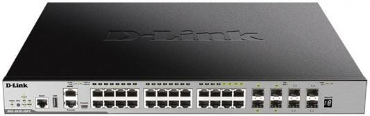 Купить со скидкой Коммутатор D-Link DGS-3630-28PC/A1ASI Управляемый стекируемый коммутатор 3 уровня с 20 портами 10/10