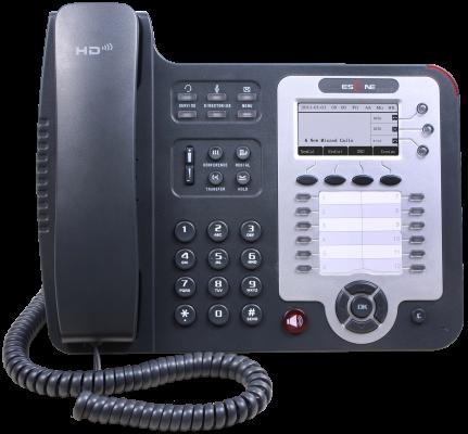 SIP-телефон Escene ES330-PEGV4 3 SIP аккаунта, 132x64 LCD-дисплей, 8 программируемых клавиш, 12 клавиш быстрого набора BLF, XML/LDAP, регулируемая под sitemap 139 xml