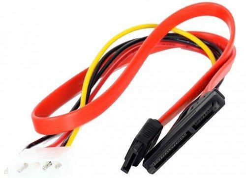 Переходник molex+SATA/SATA, 15pin+7pin, (длина инт - 45см, питание - 15см) VCOM <VHC7702>